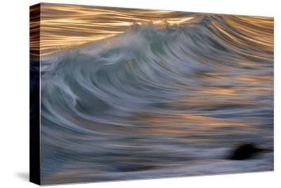 Waves in the Sea of Cortez Near La Paz-Michael Melford-Stretched Canvas Print