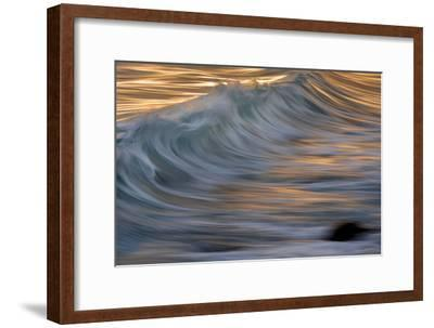 Waves in the Sea of Cortez Near La Paz-Michael Melford-Framed Photographic Print