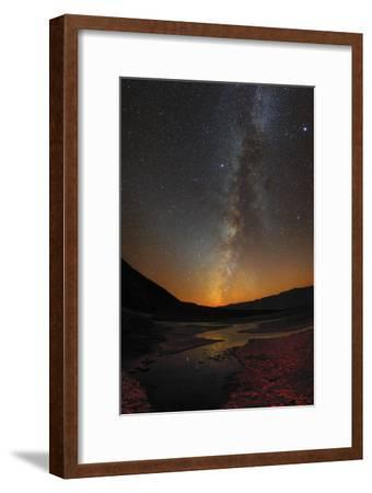 The Milky Way and Zodiacal Light over Badwater Basin in Death Valley-Babak Tafreshi-Framed Photographic Print