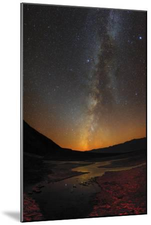 The Milky Way and Zodiacal Light over Badwater Basin in Death Valley-Babak Tafreshi-Mounted Photographic Print