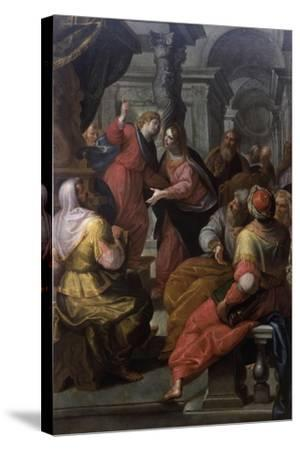 Jesus Preaching to The Doctors-Giovanni Andrea Ansaldo-Stretched Canvas Print