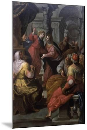 Jesus Preaching to The Doctors-Giovanni Andrea Ansaldo-Mounted Art Print