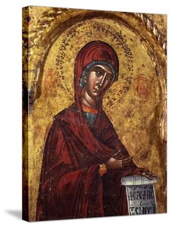 Virgin Mary- Nicholas-Stretched Canvas Print