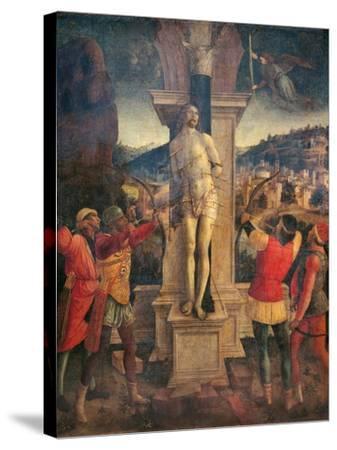 Martyrdom of Saint Sebastian-Vincenzo Foppa-Stretched Canvas Print