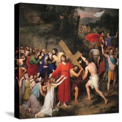 Procession to Calvary-Gaspare Landi-Stretched Canvas Print