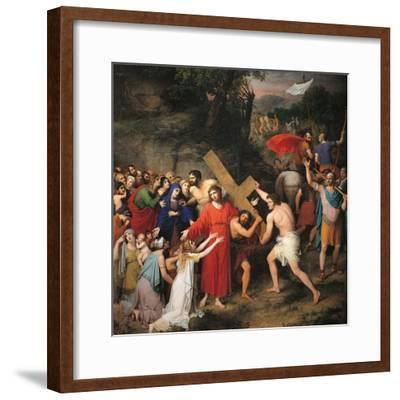 Procession to Calvary-Gaspare Landi-Framed Art Print