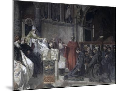 Saint Francis before Pope Innocent the Third-Vittorio Emanuele Bressanin-Mounted Art Print