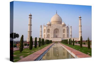 The Taj Mahal, UNESCO World Heritage Site, Agra, Uttar Pradesh, India, Asia-Gavin Hellier-Stretched Canvas Print