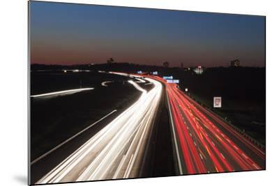Rush Hour on the A8 Autobahn, Stuttgart, Baden Wurttemberg, Germany, Europe-Markus Lange-Mounted Photographic Print