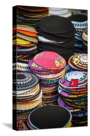 Colourful Kipas, Jerusalem, Israel, Middle East-Yadid Levy-Stretched Canvas Print