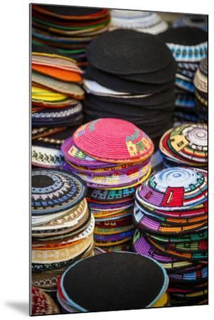 Colourful Kipas, Jerusalem, Israel, Middle East-Yadid Levy-Mounted Photographic Print