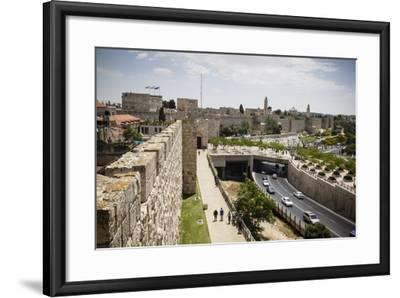 The Old City Walls, UNESCO World Heritage Site, Jerusalem, Israel, Middle East-Yadid Levy-Framed Photographic Print