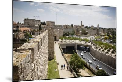The Old City Walls, UNESCO World Heritage Site, Jerusalem, Israel, Middle East-Yadid Levy-Mounted Photographic Print