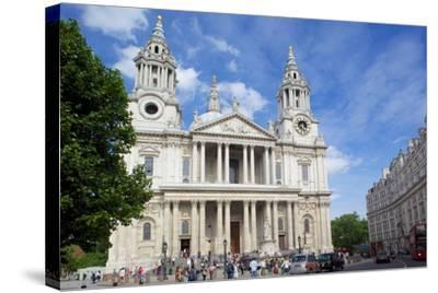 View of St. Paul's Cathedral, London, England, United Kingdom, Europe-Frank Fell-Stretched Canvas Print
