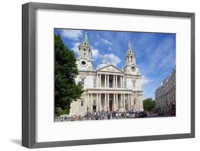 View of St. Paul's Cathedral, London, England, United Kingdom, Europe-Frank Fell-Framed Photographic Print