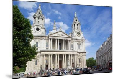 View of St. Paul's Cathedral, London, England, United Kingdom, Europe-Frank Fell-Mounted Photographic Print