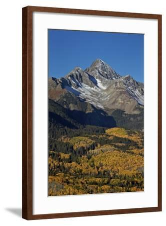 Wilson Peak in the Fall, San Juan National Forest, Colorado, Usa-James Hager-Framed Photographic Print