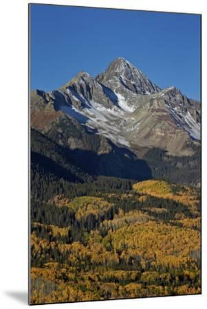 Wilson Peak in the Fall, San Juan National Forest, Colorado, Usa-James Hager-Mounted Photographic Print