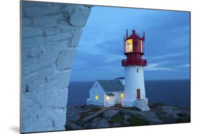 The Idyllic Lindesnes Fyr Lighthouse Illuminated at Dusk-Doug Pearson-Mounted Photographic Print