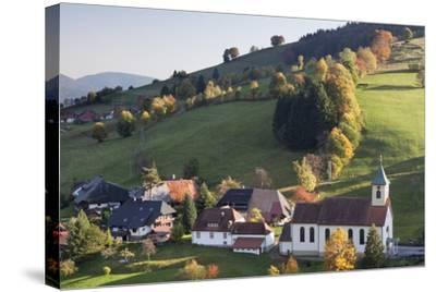 Church in Autumn, Wieden, Wiedener Eck, Black Forest, Baden Wurttemberg, Germany, Europe-Markus Lange-Stretched Canvas Print