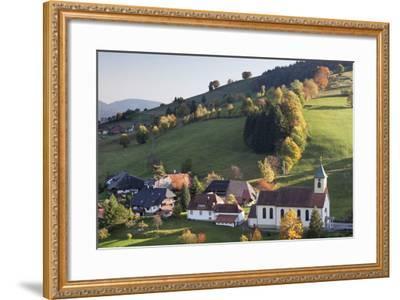 Church in Autumn, Wieden, Wiedener Eck, Black Forest, Baden Wurttemberg, Germany, Europe-Markus Lange-Framed Photographic Print