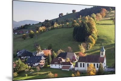 Church in Autumn, Wieden, Wiedener Eck, Black Forest, Baden Wurttemberg, Germany, Europe-Markus Lange-Mounted Photographic Print