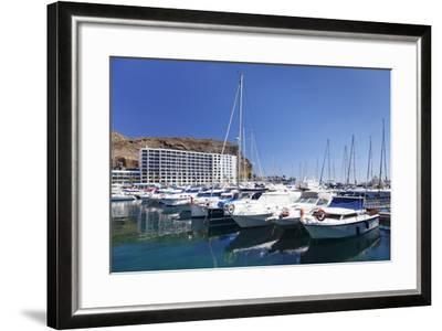 Marina, Puerto Rico, Gran Canaria, Canary Islands, Spain, Atlantic, Europe-Markus Lange-Framed Photographic Print