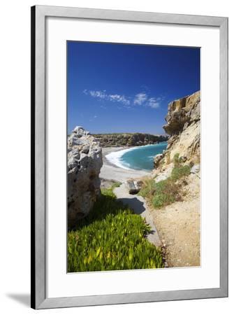 Beach in Rethymno, Crete, Greek Islands, Greece, Europe-Sakis Papadopoulos-Framed Photographic Print