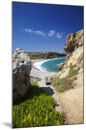 Beach in Rethymno, Crete, Greek Islands, Greece, Europe-Sakis Papadopoulos-Mounted Photographic Print