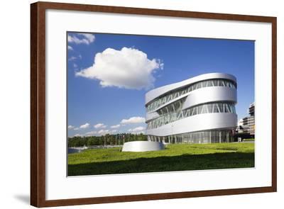 Mercedes Benz Museum, Stuttgart, Baden Wurttemberg, Germany, Europe-Markus Lange-Framed Photographic Print
