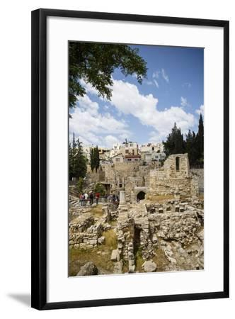 The Pool of Bethesda, the Ruins of the Byzantine Church, Jerusalem, Israel, Middle East-Yadid Levy-Framed Photographic Print