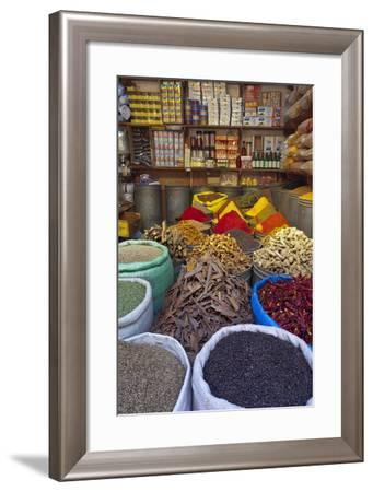 Spice Store, Medina, Fes, Morocco, North Africa, Africa-Doug Pearson-Framed Photographic Print