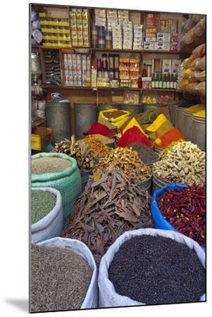 Spice Store, Medina, Fes, Morocco, North Africa, Africa-Doug Pearson-Mounted Photographic Print