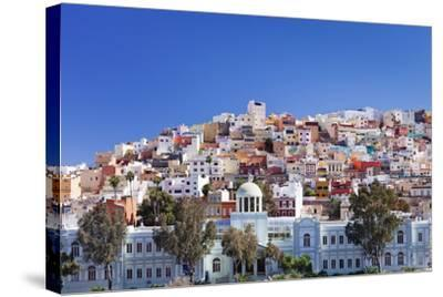 Coloured Buildings in the District of San Juan-Markus Lange-Stretched Canvas Print