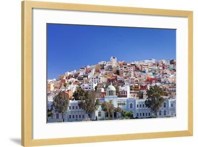Coloured Buildings in the District of San Juan-Markus Lange-Framed Photographic Print