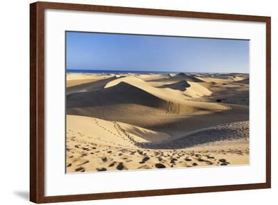 Sand Dunes of Maspalomas, Maspalomas, Gran Canaria, Canary Islands, Spain, Atlantic, Europe-Markus Lange-Framed Photographic Print