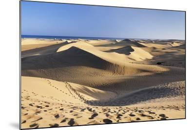 Sand Dunes of Maspalomas, Maspalomas, Gran Canaria, Canary Islands, Spain, Atlantic, Europe-Markus Lange-Mounted Photographic Print