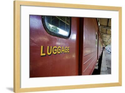 Train at Platform, Kandy Train Station, Kandy, Sri Lanka, Asia-Simon Montgomery-Framed Photographic Print