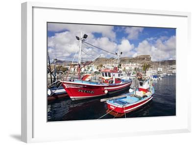 Fishing Boats at the Old Port of Puerto De Mogan-Markus Lange-Framed Photographic Print