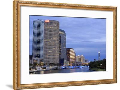 Hillsborough River and Skyline, Tampa, Florida, United States of America, North America-Richard Cummins-Framed Photographic Print