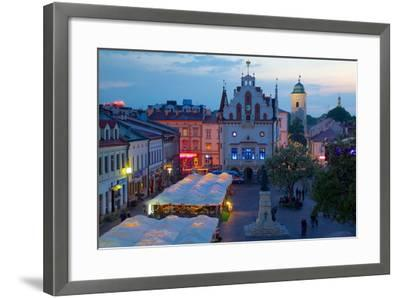 City Hall at Dusk, Market Square, Old Town, Rzeszow, Poland, Europe-Frank Fell-Framed Photographic Print