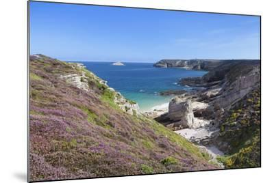 View Along the Cliffs of Cap Frehel to the Lighthouse, Cotes D'Armor, Brittany, France, Europe-Markus Lange-Mounted Photographic Print