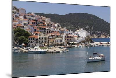 Boat Entering Harbour, Skopelos, Sporades, Greek Islands, Greece, Europe-Rolf Richardson-Mounted Photographic Print