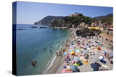The Free Beach in the Old Town at Monterosso Al Mare-Mark Sunderland-Stretched Canvas Print