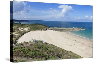 Sandy Beach at Cap Frehel, Cotes D'Armor, Brittany, France, Europe-Markus Lange-Stretched Canvas Print