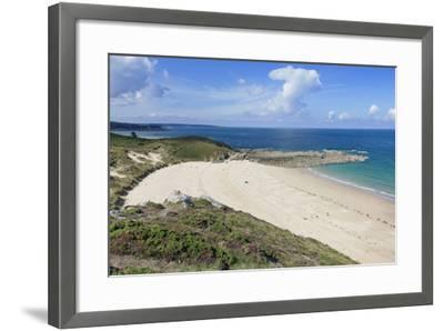 Sandy Beach at Cap Frehel, Cotes D'Armor, Brittany, France, Europe-Markus Lange-Framed Photographic Print
