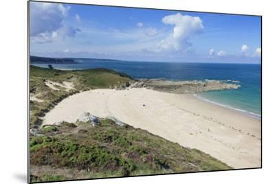 Sandy Beach at Cap Frehel, Cotes D'Armor, Brittany, France, Europe-Markus Lange-Mounted Photographic Print