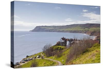 Robin Hood's Bay on the North York Moors Coastline, Yorkshire, England, United Kingdom, Europe-Julian Elliott-Stretched Canvas Print