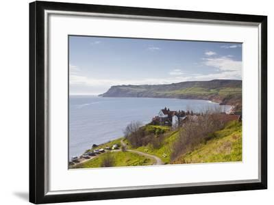 Robin Hood's Bay on the North York Moors Coastline, Yorkshire, England, United Kingdom, Europe-Julian Elliott-Framed Photographic Print