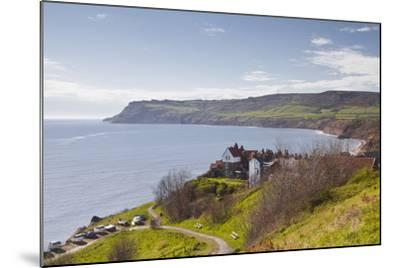 Robin Hood's Bay on the North York Moors Coastline, Yorkshire, England, United Kingdom, Europe-Julian Elliott-Mounted Photographic Print